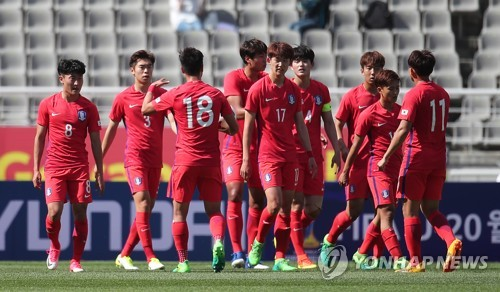 (LEAD) S. Korea play to 2-2 draw with Senegal in final tune-up for U-20 World Cup