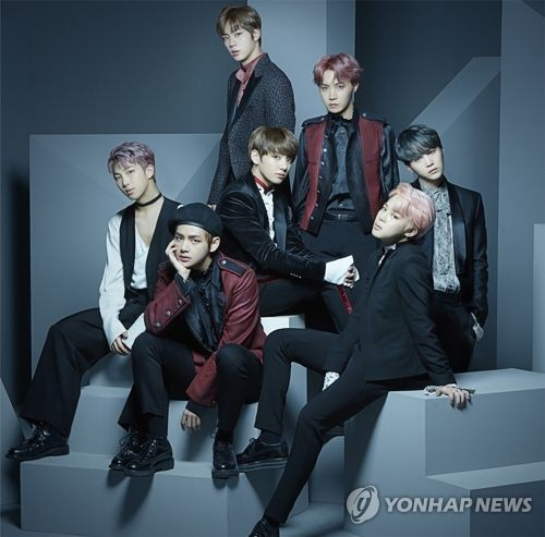 A publicity photo of South Korean boy band BTS, provided by Big Hit Entertainment. (Yonhap)