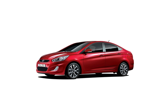 Hyundai's Accent subcompact (Courtesy of Hyundai Motor) (Yonhap)