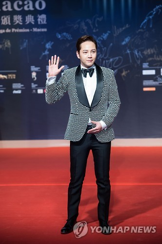 South Korean singer and actor Jang Keun-suk arrives on the red carpet for the 1st International Film Festival and Awards Macao in Macao, China, on Dec. 26, 2016.