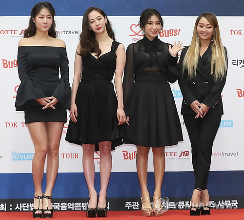 This file photo shows K-pop idol group Sistar. (Yonhap)