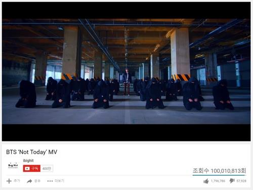 """This captured image shows a scene from the music video of """"Not Today"""" by BTS. (Yonhap)"""