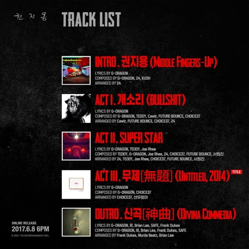 Dragon's New Release 'Untitled, 2014' Breaks Music Charts