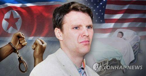 US college student released by North Korea home, but in coma