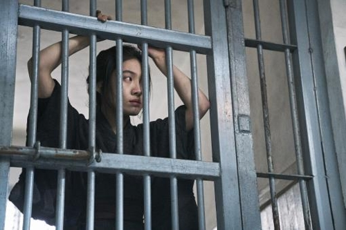 """This photo provided by Megabox Plus M shows actress Choi Hee-seo as Kaneko Fumiko in the new Korean historical film """"Anarchist from Colony."""" (Yonhap)"""