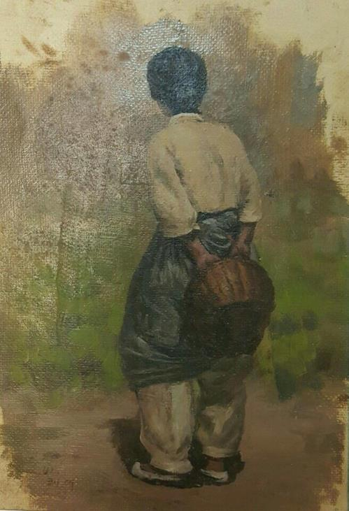 """This image provided by Choi Sang-kyun shows """"Mother"""" by North Korean painter Ri Koue-dae. (Yonhap)"""