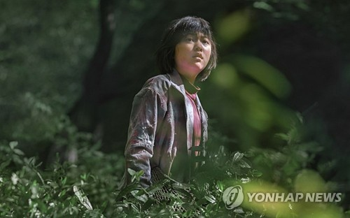 "An Seo-hyun acts as Mija in Bong Joon-ho's new film ""Okja."" This photo was released by Netflix. (Yonhap)"