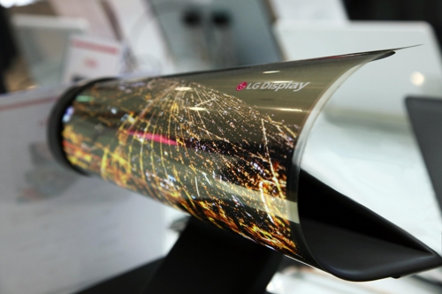 Huge transparent, flexible OLED display flows like water