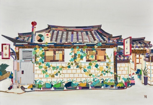 "This image provided by artist Je Mi-young shows her 2017 work ""Scenery with House."" (Yonhap)"