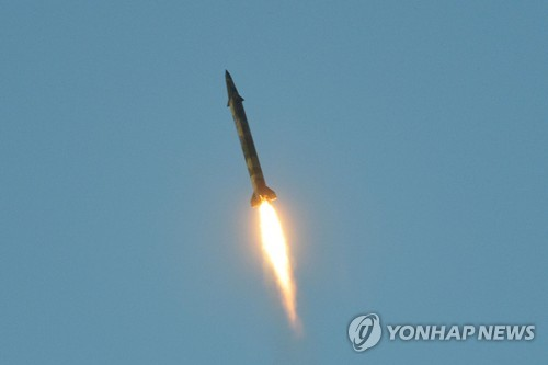 A file photo of North Korea's ballistic missile launch on May 29, 2017 (For Use Only in the Republic of Korea. No Redistribution) (KCNA-Yonhap)