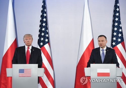 President Trump addresses large crowd in Poland, reaffirms United States  support for North Atlantic Treaty Organisation