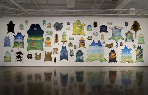 "This image provided by Arario Gallery in Seoul shows artist Jang Jong-wan's solo exhibition ""Organic Farm."" (Yonhap)"