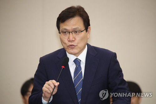 Top financial regulator nominee Choi Jong-ku speaks during a parliamentary hearing on July 17, 2017. (Yonhap)