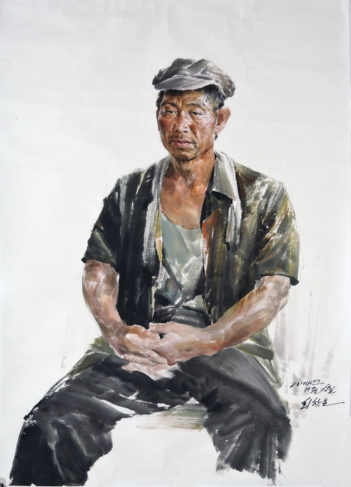 """This image provided by BG Muhn shows Choe Chang-ho's """"A Worker."""" (Yonhap)"""