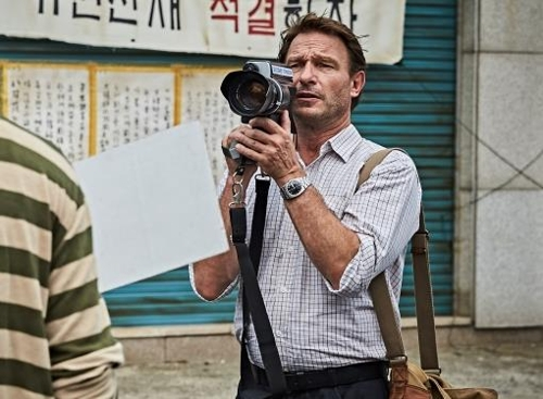 "This photo released by Showbox shows German actor Thomas Kretschmann as Jurgen Hinzpeter in ""A Taxi Driver."" (Yonhap)"