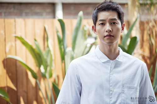 "Song Joong-ki of the upcoming movie ""The Battleship Island"" poses for the camera in a photo provided by Blossom Entertainment. (Yonhap)"