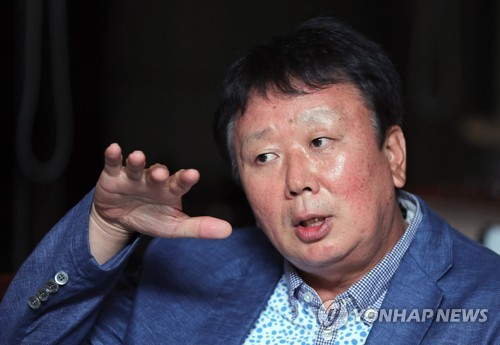 Sun Dong-yol, a South Korean pitching legend recently named the full-time national team manager, speaks to Yonhap News Agency in an interview in Seoul on July 27, 2017. (Yonhap)