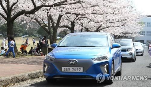 Hyundai Motor Co.'s Ioniq all electric vehicle. (Yonhap)