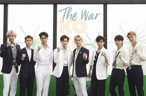 This photo released by S.M. Entertainment shows boy band EXO. (Yonhap)