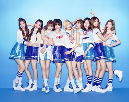A publicity photo of K-pop band TWICE, courtesy of JYP Entertainment (Yonhap)