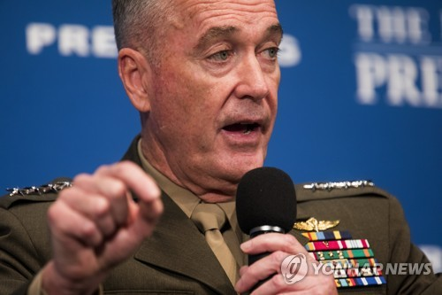 Associated Press shows U.S. Joint Chiefs of Staff Chairman Joseph Dunford