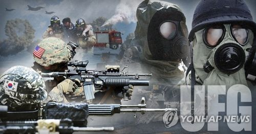 An image signifying Ulchi Freedom Guardian, an annual joint military training exercise by South Korea and the United States