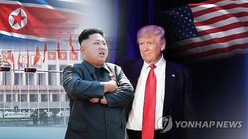 A combined photo of North Korean leader Kim Jong-un (L) and U.S. President Donald Trump. (Yonhap)