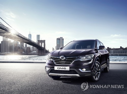 Renault Samsung Motors' gasoline-powered QM6 SUV (Yonhap)