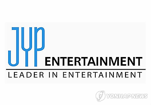Corporate logo for JYP Entertainment (Yonhap)