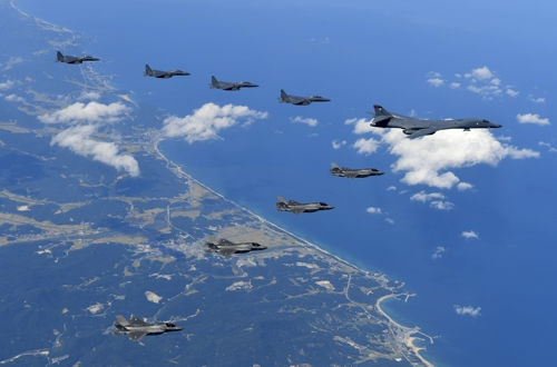 U.S.  military forces hold joint military exercises with South Korea, Japan