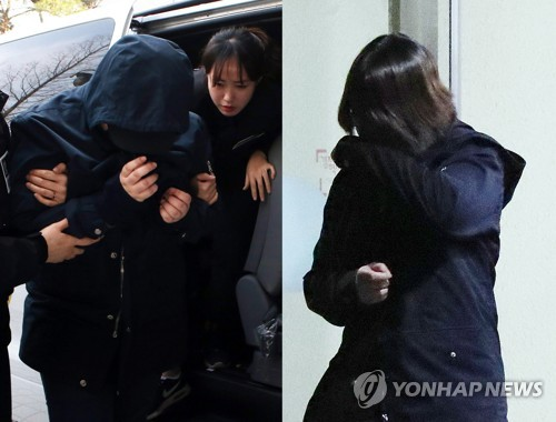This composite photo, filed Aug. 29, 2017, shows the accomplice surnamed Park (L) and kidnapper, Kim (R), in the abduction and murder of an 8-year-old in Incheon early this year. (Yonhap)