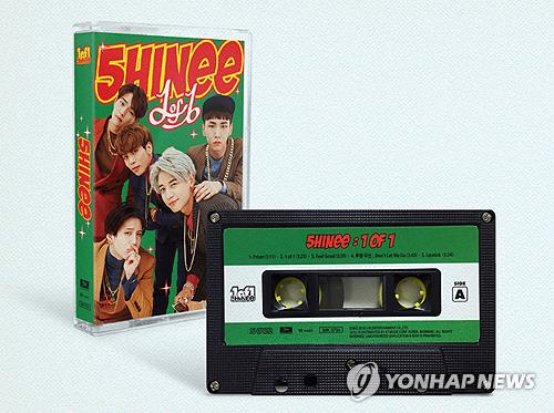 """This image shows the tape version of boyband SHINee's fifth full-length album """"1 of 1"""" released in October 2016. (Yonhap)"""