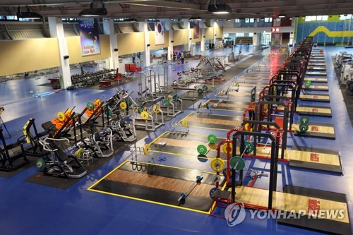 This file photo shows a gym at the National Training Center in Jincheon, North Chungcheong Province. (Yonhap)