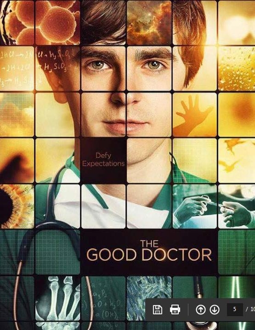 """A promotional image for ABC's TV series """"The Good Doctor"""" (Yonhap)"""