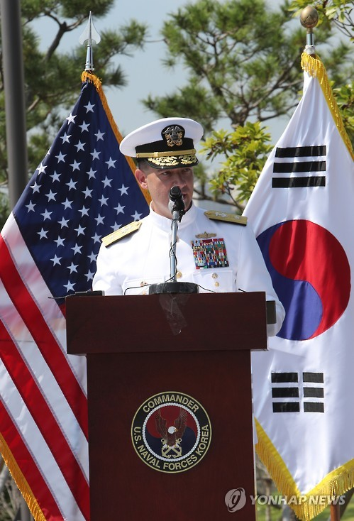 Rear. Adm. Brad Cooper, commander of the U.S. Naval Forces Korea, in a file photo (Yonhap)