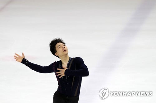 In this file photo taken July 30, 2017, South Korean figure skater Lee June-hyoung performs during the Figure Skating Korea Challenge at Mokdong Ice Rink in Seoul. (Yonhap)