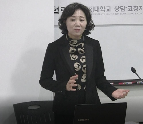 This photo, provided by the North Korea System Trauma Healing and Counseling Center on Sept. 28, 2017, shows Yoo Hye-ran, the chief of the center. (Yonhap)