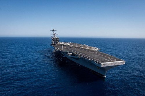 The USS Theodore Roosevelt in a photo posted on the U.S. Navy's website. (Yonhap)