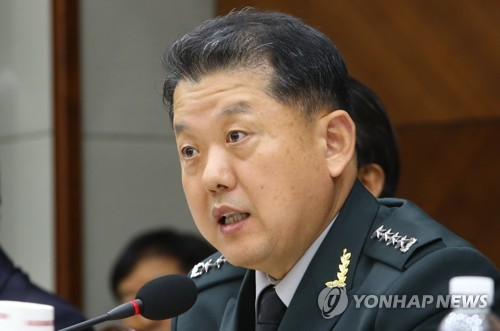 Gen. Kim Byung-ju, deputy commander of the South Korea-U.S. Combined Forces Command, answers a question during lawmakers' audit of the defense ministry affairs on Oct. 12, 2017. (Yonhap)