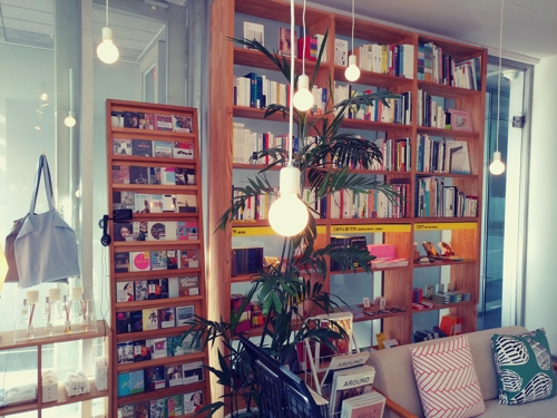 Books adorn the shelves at ThanksBooks, a bookstore in the Hongdae area. (Yonhap)
