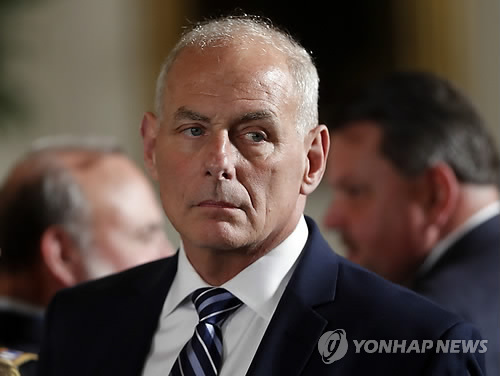 This AP file photo shows White House Chief of Staff John Kelly. (Yonhap)