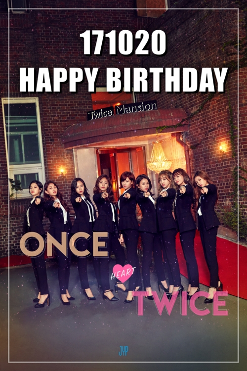 An image celebrating the two-year anniversary of K-pop girl group TWICE, provided by JYP Entertainment (Yonhap)