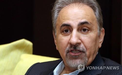 Tehran Mayor Mohammad Ali Najafi speaks during a media interview held in Seoul on Oct. 20, 2017. (Yonhap)