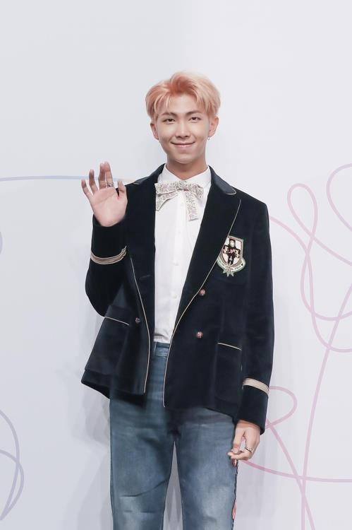 This photo provided by Big Hit Entertainment shows K-pop boy band BTS's leader RM. (Yonhap)