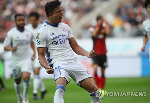 Brazilian striker wins scoring title in S. Korea's top pro football league