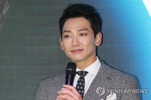 """Singer-actor Rain speaks to reporters during a press conference for his new EP album """"My Life"""" on Dec. 1, 2017, at a hotel in central Seoul. (Yonhap)"""
