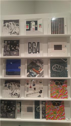 """BGAWORKS' products are on display at the Seoul Art Book Fair """"Unlimited Edition 9"""" on Dec. 2, 2017. (Yonhap)"""