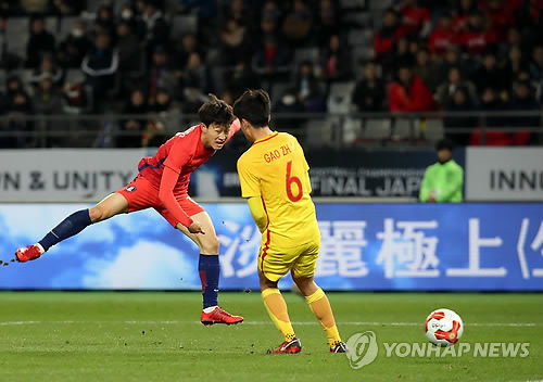 S. Korea held to draw by China at start of regional men's football tournament
