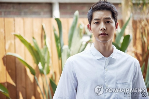 This photo provided by Blossom Entertainment shows actor Song Joong-ki. (Yonhap)