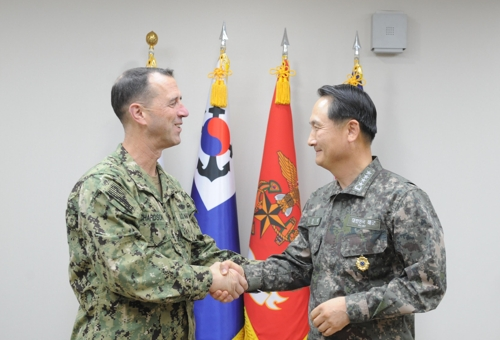 (Yonhap Interview) U.S. Navy chief says military options on N. Korea are real
